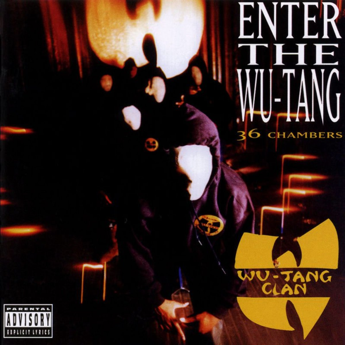Cover art for the debut studio album of the Wu-Tang Clan titled Enter The Wu-Tang (36 Chambers). Photo: BMG Entertainment.