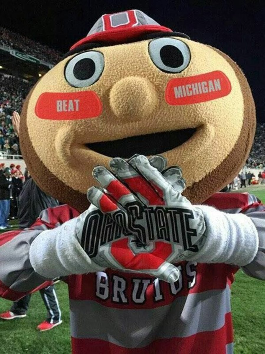 Brutus the Buckeye would be perfect for a myriad of tattoo ideas.