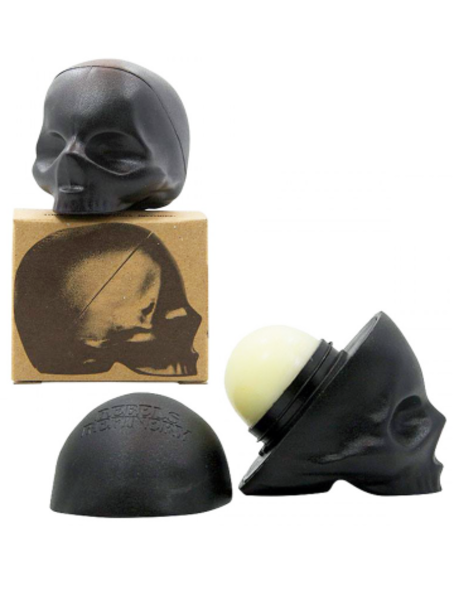 Available at INKEDSHOP.COM: Skull Lip Balm by Rebels Refinery