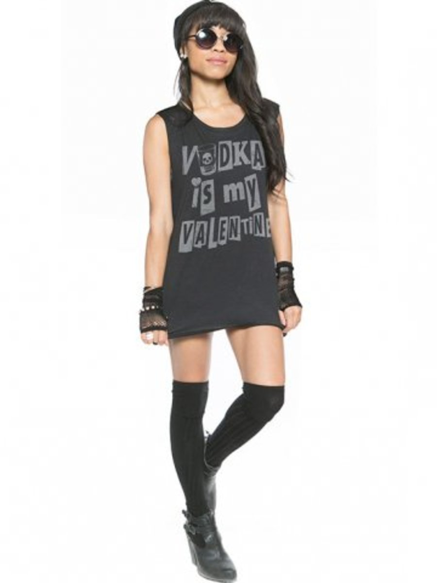 """Available at INKEDSHOP.COM: Women's """"Vodka Valentine"""" Muscle Tee by  Social Decay"""