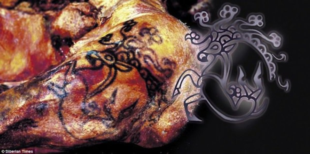 In depth look at the mythological creature tattoo found on Princess Ukok.