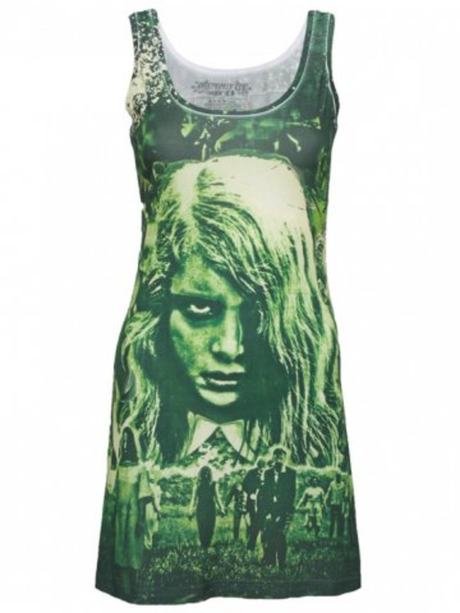 "Available at INKEDSHOP.COM: Women's ""Night of the Living Dead"" Tank Dress by Kreepsville 666"