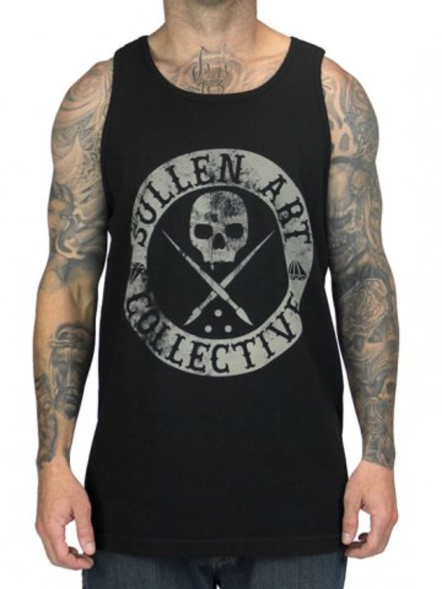 """Available at INKEDSHOP.COM: Men's """"Badge of Honor"""" Tank by Sullen Clothing"""