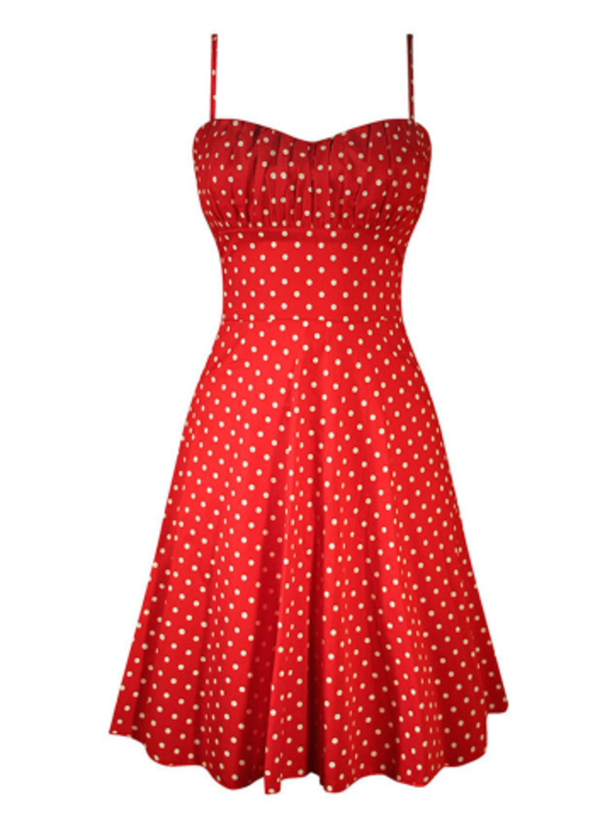 "Available at INKEDSHOP.COM: Women's ""Polka Dot"" Swing Dress by Double Trouble Apparel"