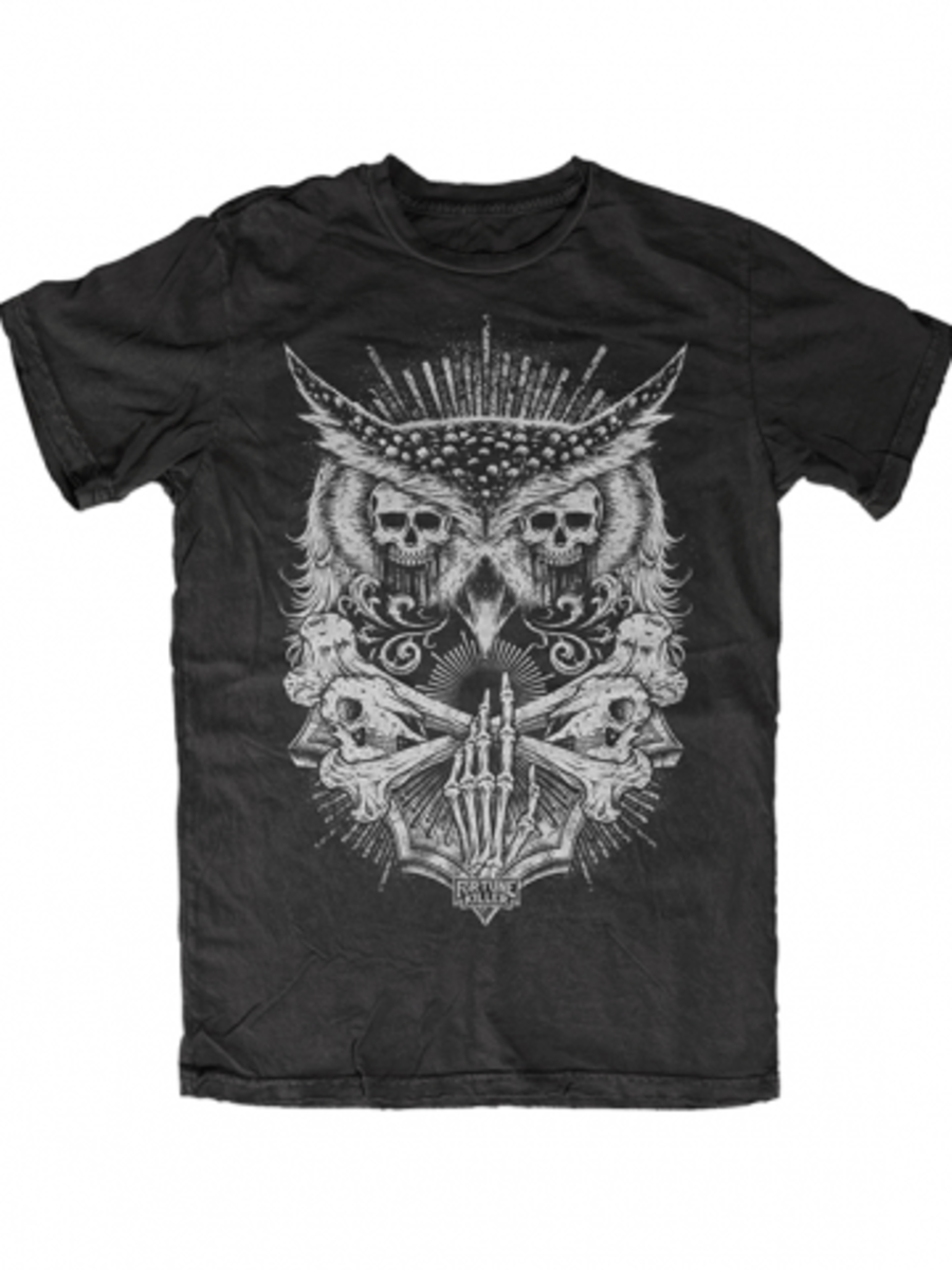 "Available at INKEDSHOP.COM: Men's ""Night Watcher"" Tee by Fortune Killer"