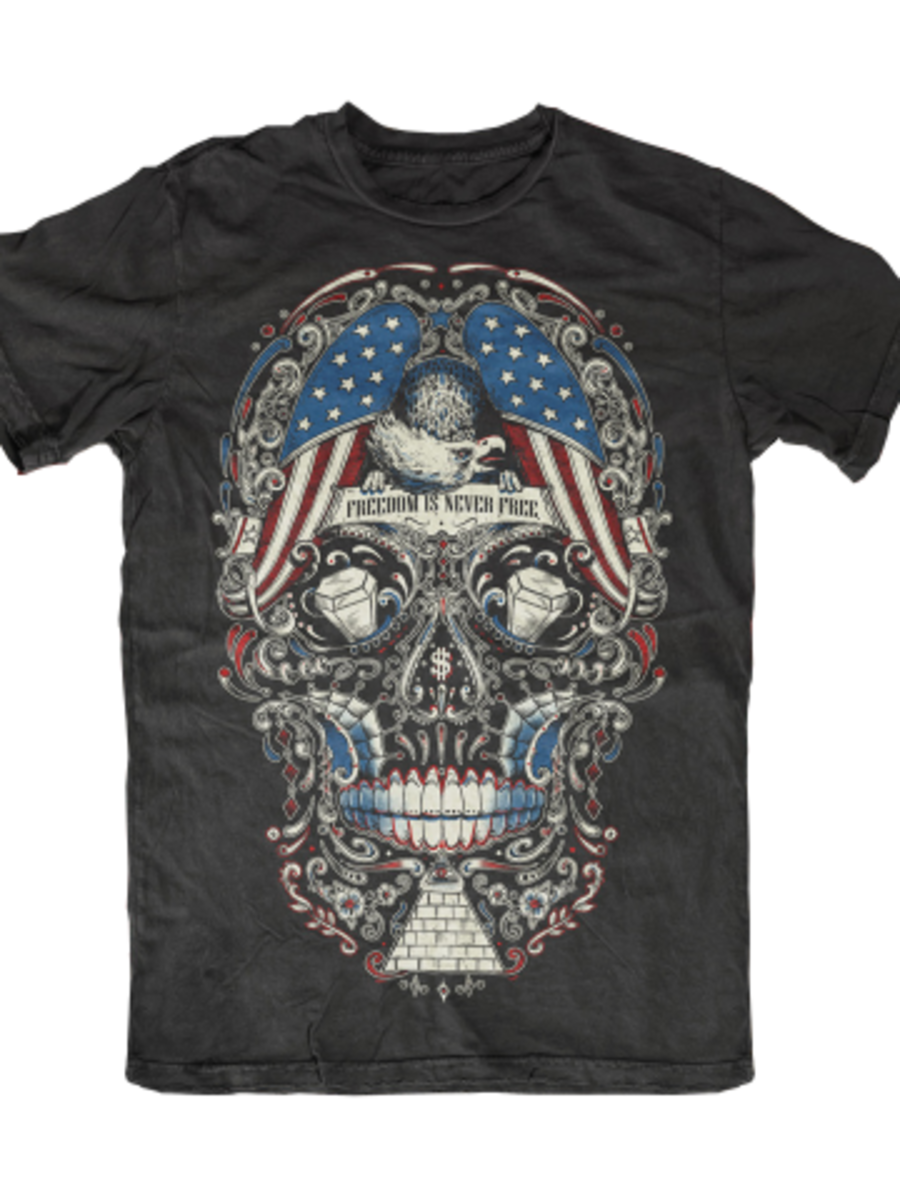 "Available at INKEDSHOP.COM: Men's ""Free for the Dead"" Tee by Skygraphx"