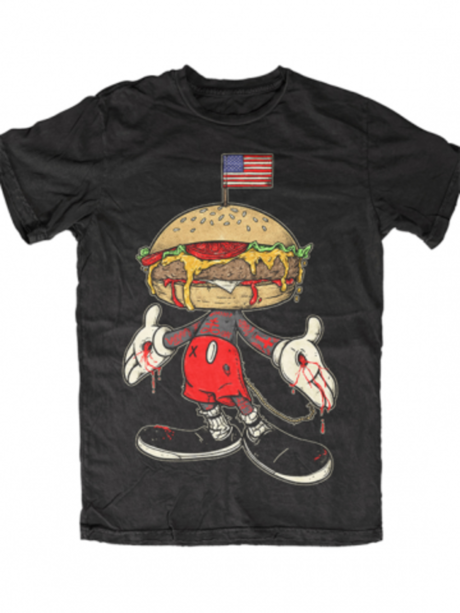 "Available at INKEDSHOP.COM: Men's ""Merica Mouse"" Tee by Skygraphx"