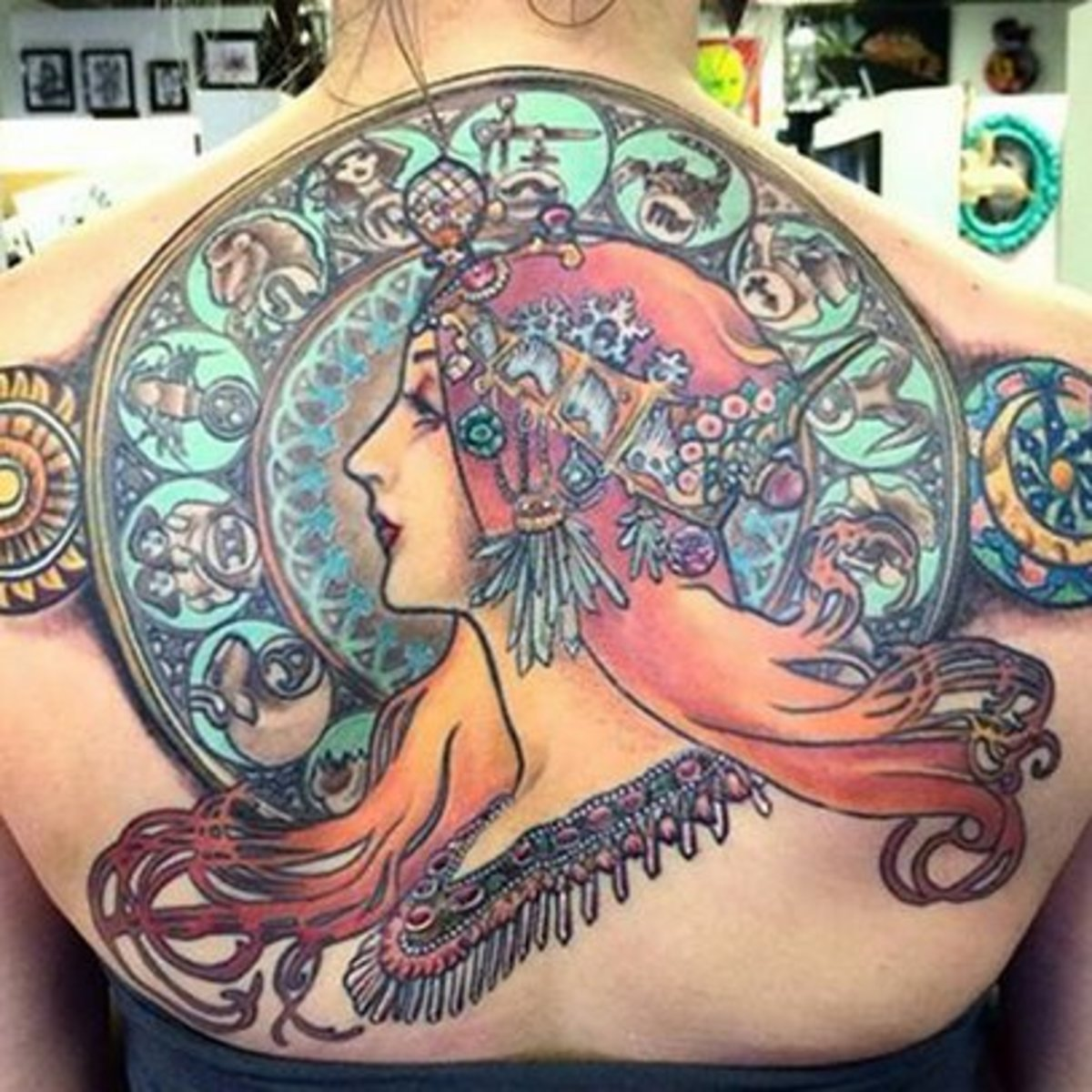 Tattoo Ideas Artists And Models: Tattoos Inspired By Alphonse Mucha