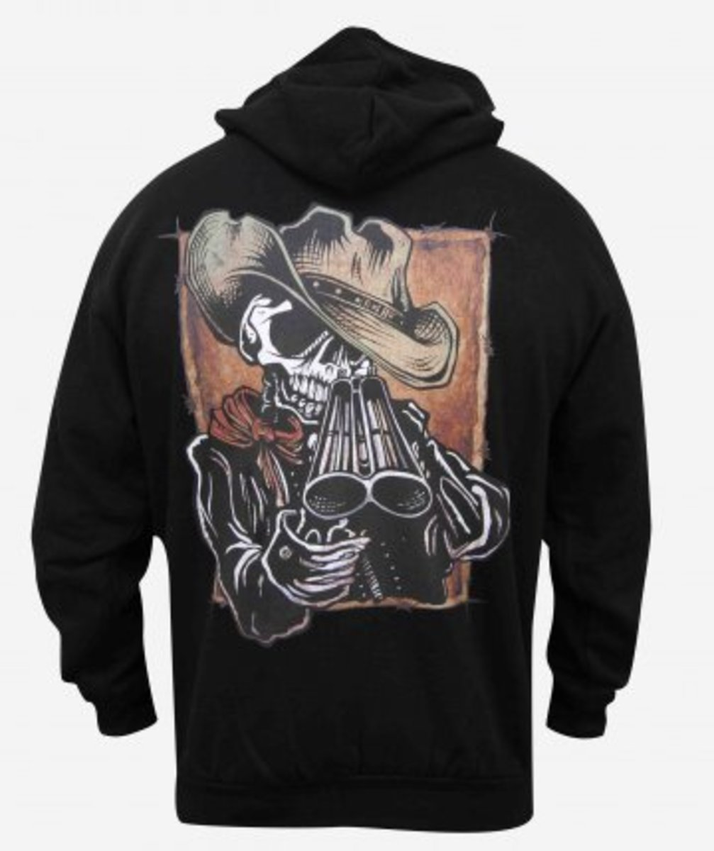 "Available at INKEDSHOP.COM: Men's ""Draw"" Zip Hoodie by Lowbrow Art Company"