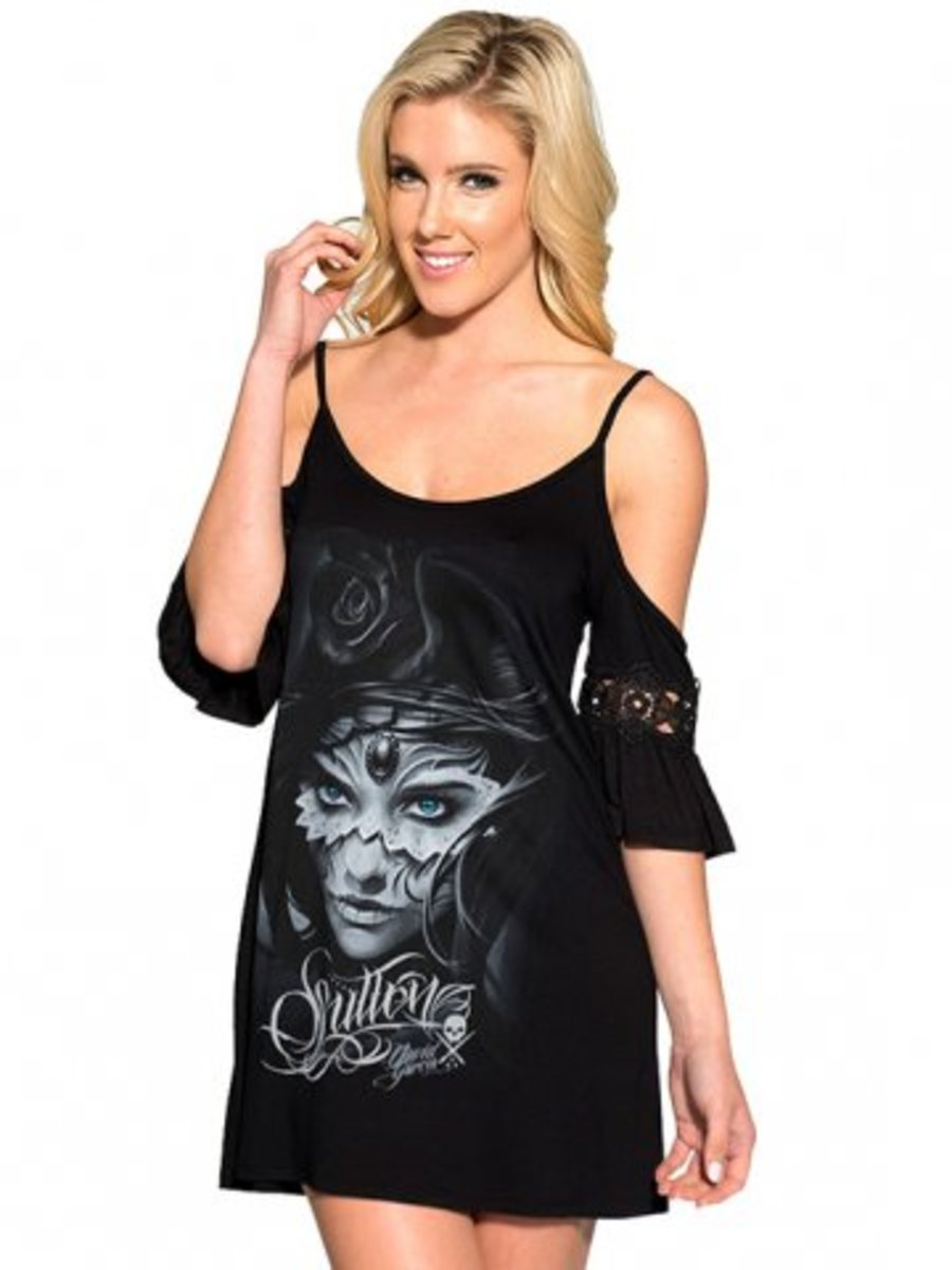 "Available at INKEDSHOP.COM: ""Athena"" Flutter Top by Sullen Clothing"