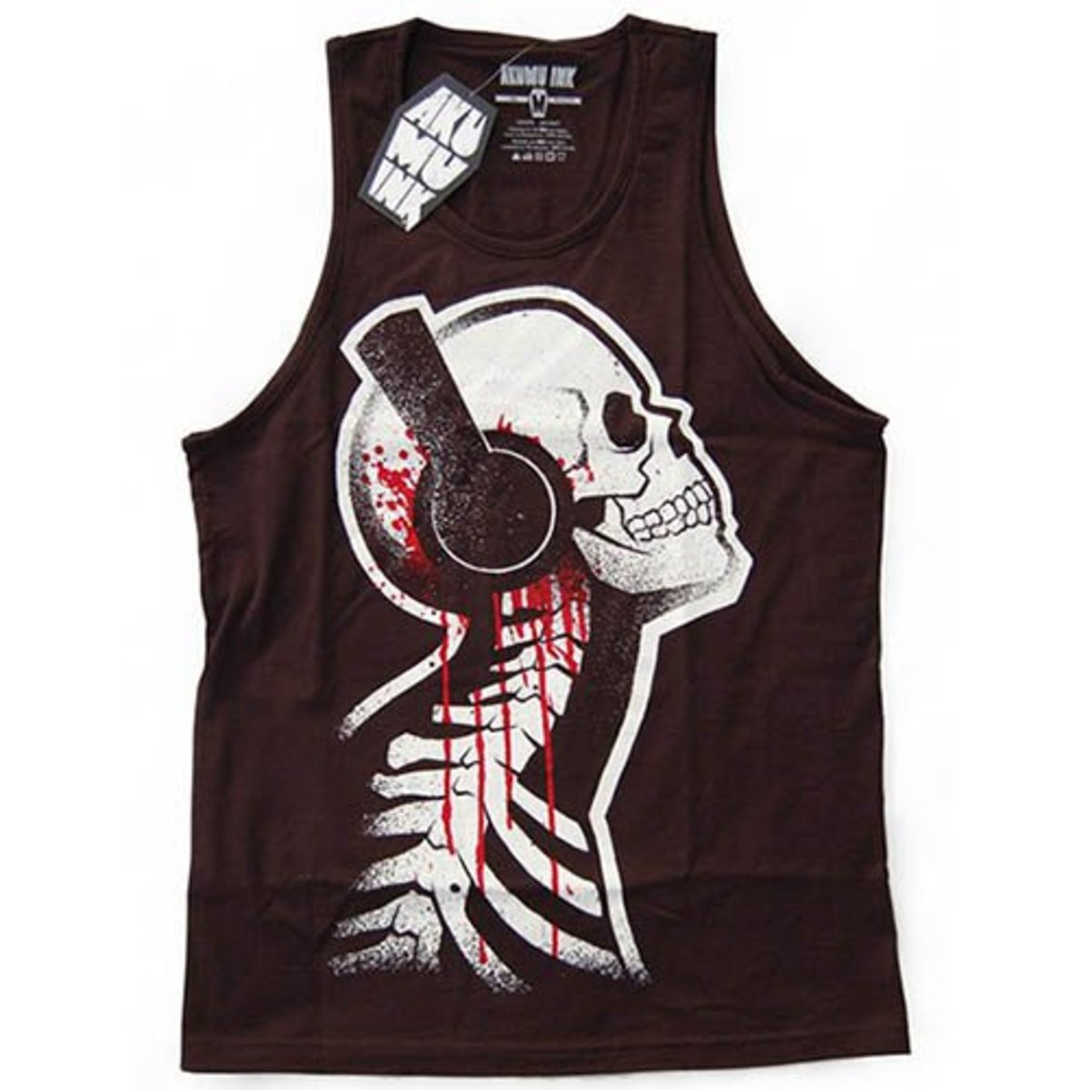 "Available at INKEDSHOP.COM: Men's ""Tone Deaf"" Tank by Akumu Ink"