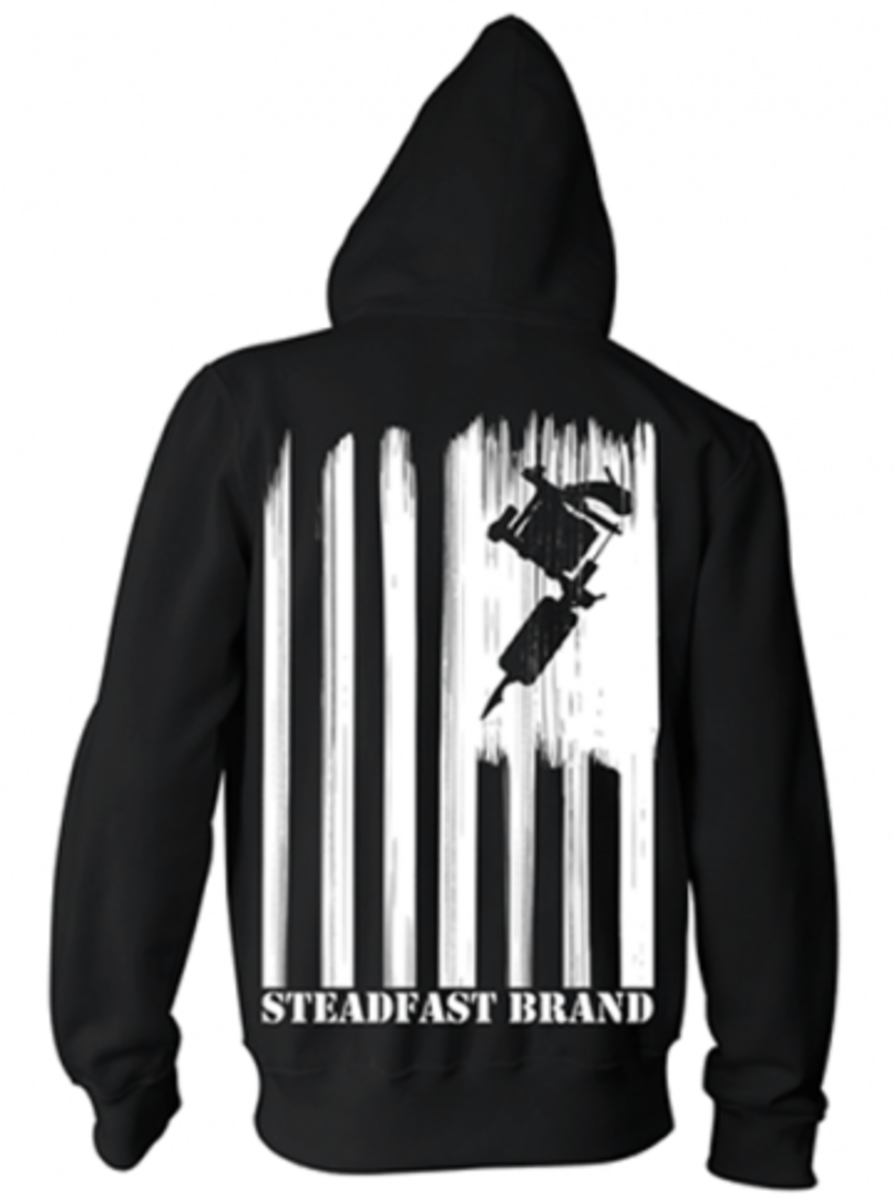 "Available at INKEDSHOP.COM: Men's ""Steadfast Nation"" Zip Up Hoodie by Steadfast Brand"