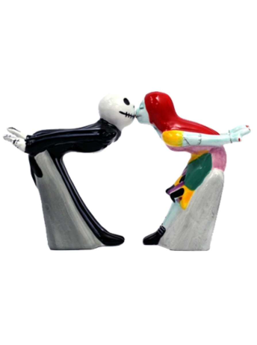 "Available at INKEDSHOP.COM: ""Jack and Sally Kiss"" Salt & Pepper Shakers"