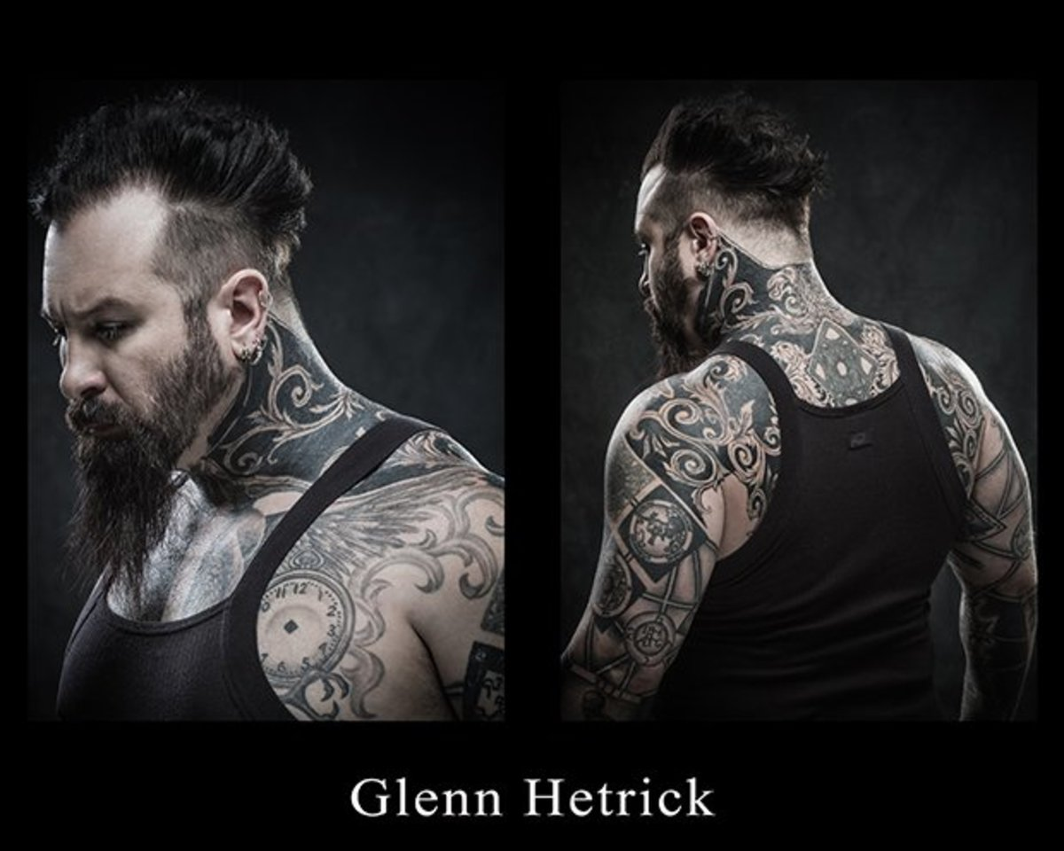A good look at Hetrick's ink.