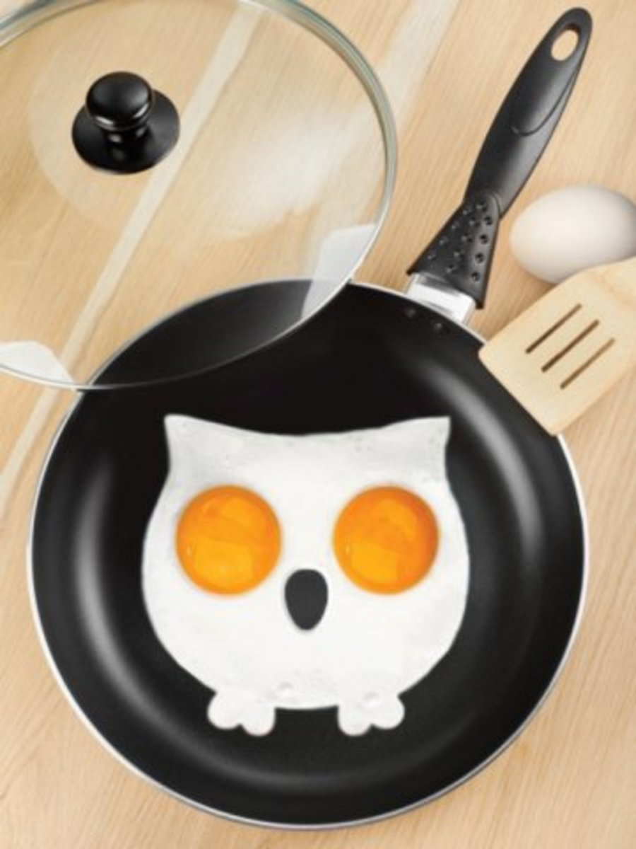 """Available at INKEDSHOP.COM: """"Funny Side Up Owl"""" Egg Corral"""