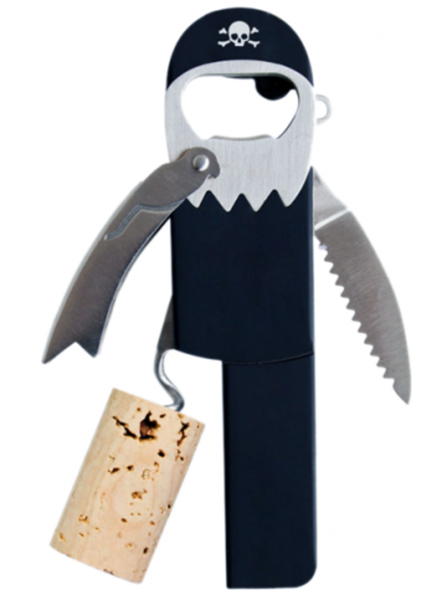 "Available at INKEDSHOP.COM: ""Legless Pirate"" Bottle Opener by Black Label"