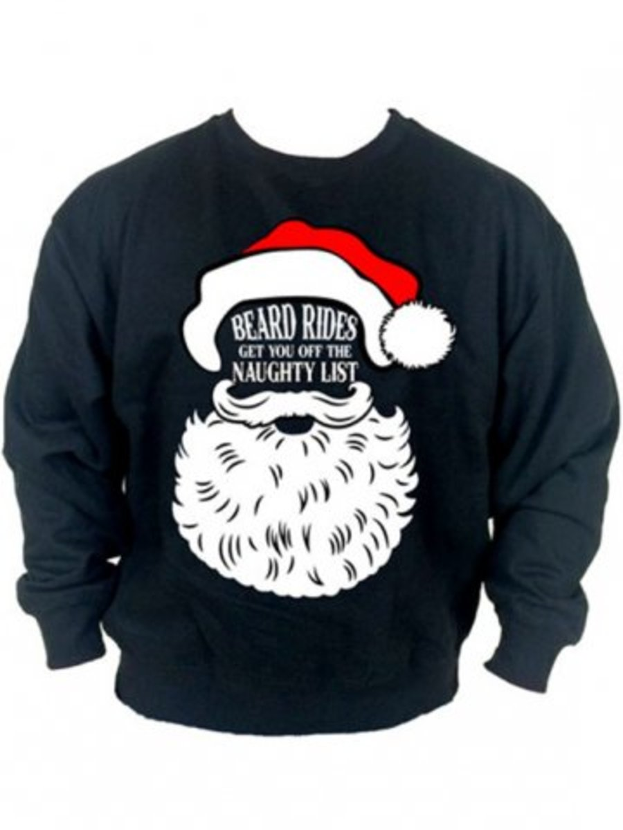 """Available at INKEDSHOP.COM: Men's """"Beard Rides"""" Sweatshirt by Cartel Ink"""