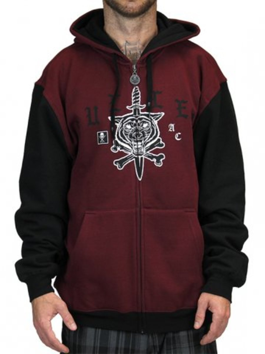 "Available at INKEDSHOP.COM: Men's ""Run With Wolves"" Zip Hoodie by Sullen Clothing"