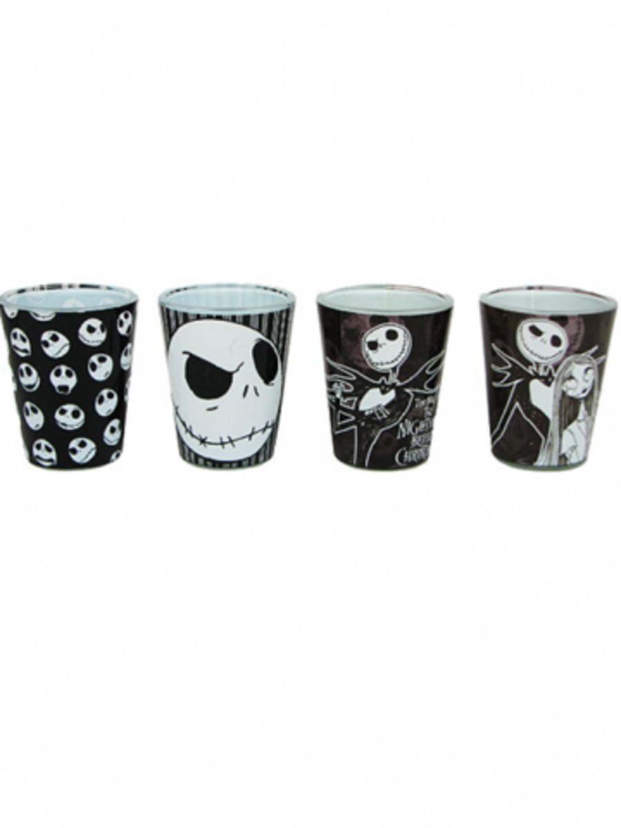 "Available at INKEDSHOP.COM: ""Nightmare Before Christmas"" Shot Glasses"