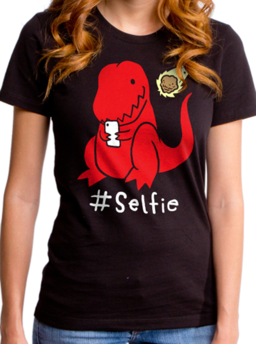 "Available at INKEDSHOP.COM: Women's ""#Selfie"" Tee by Goodie Two Sleeves"