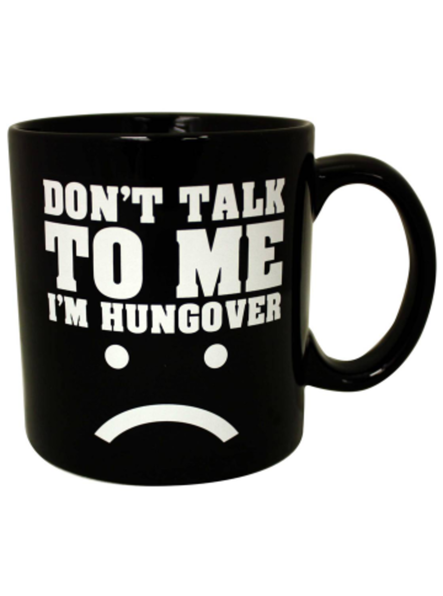 "Available at INKEDSHOP.COM: ""I'm Hungover"" Giant Mug by Black Label"