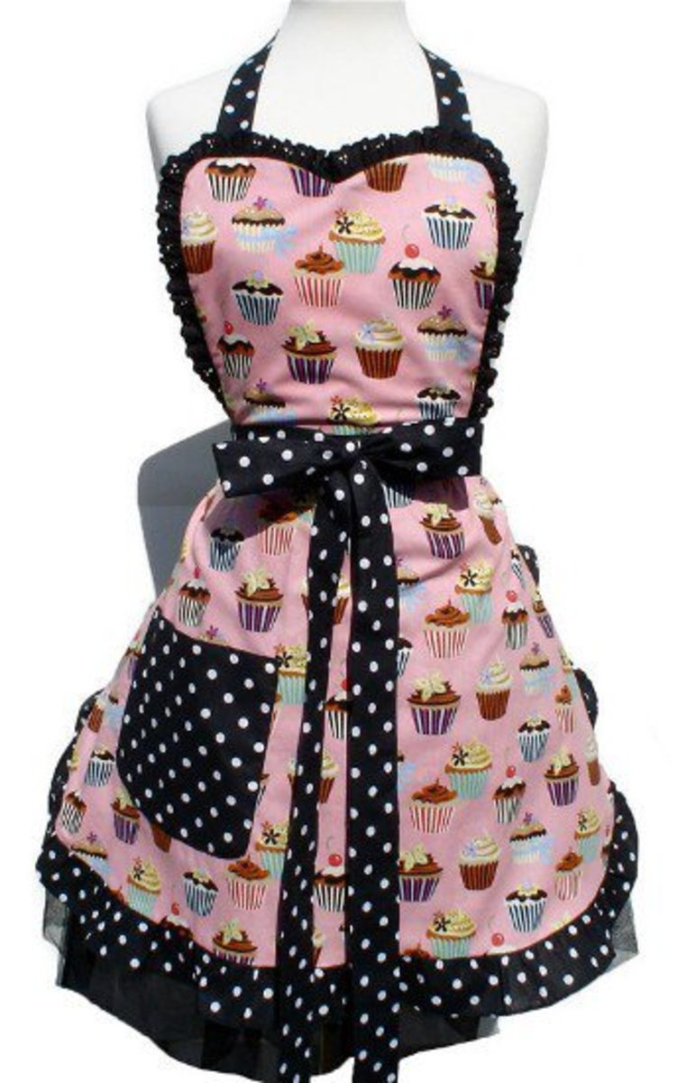 2 cupcakes_and_polka_dots_apron_item_a905