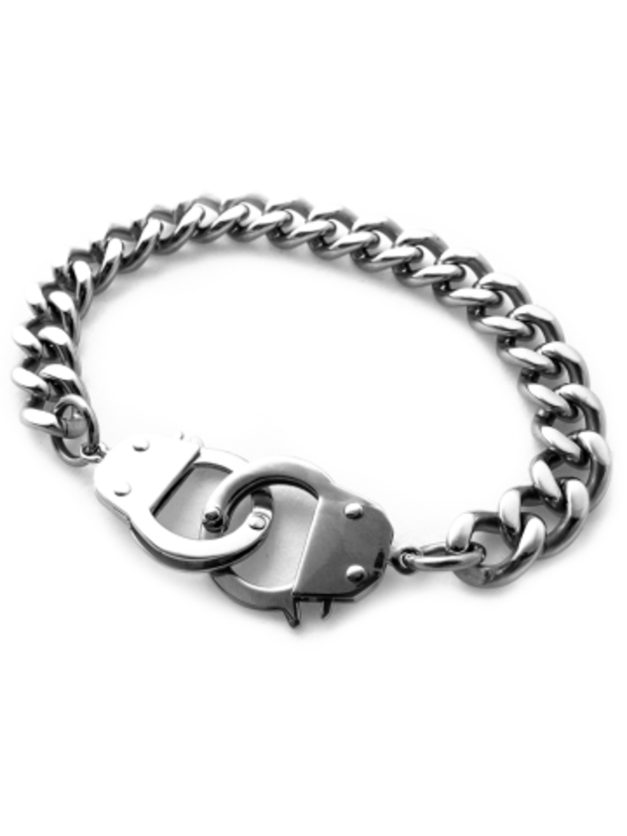 Available at INKEDSHOP.COM: Handcuff Bracelet by Black Label
