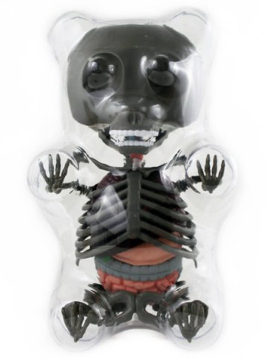 Available at INKEDSHOP.COM: Limited Edition Anatomy Gummy Bear (Grey)