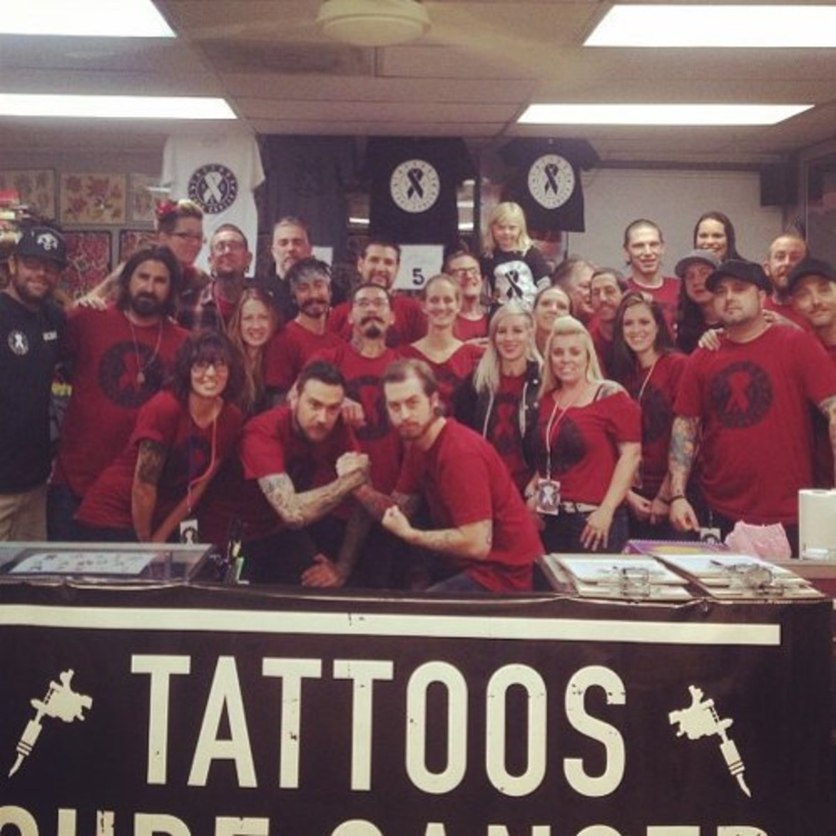 All of the hardworking tattooers at TCC's inaugural event.