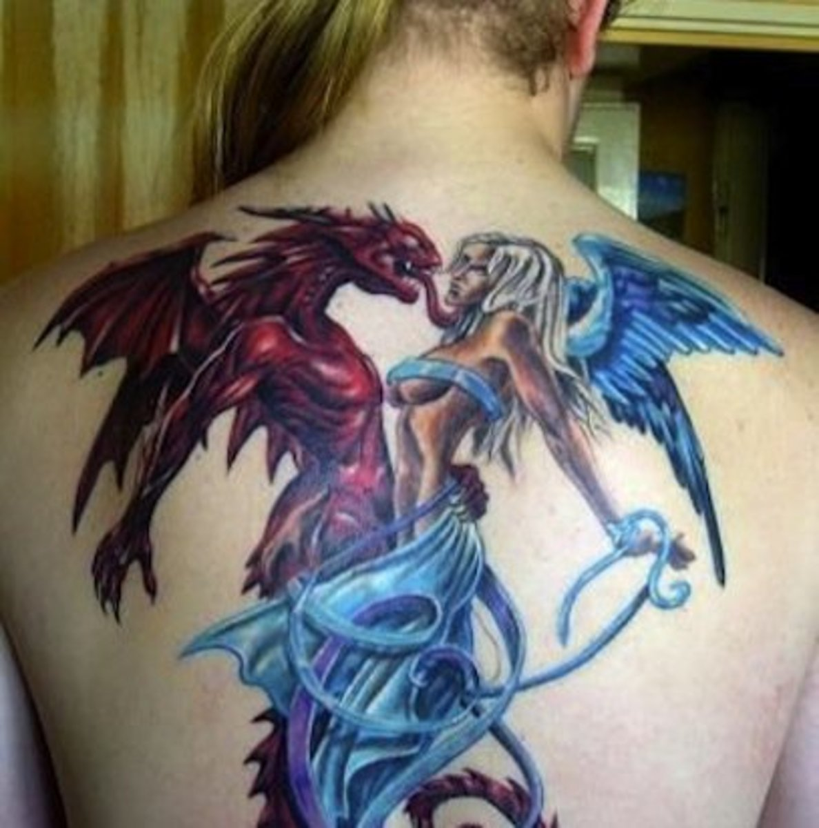 Angel And Demon Tattoo: Tattoos Of Angels And Demons