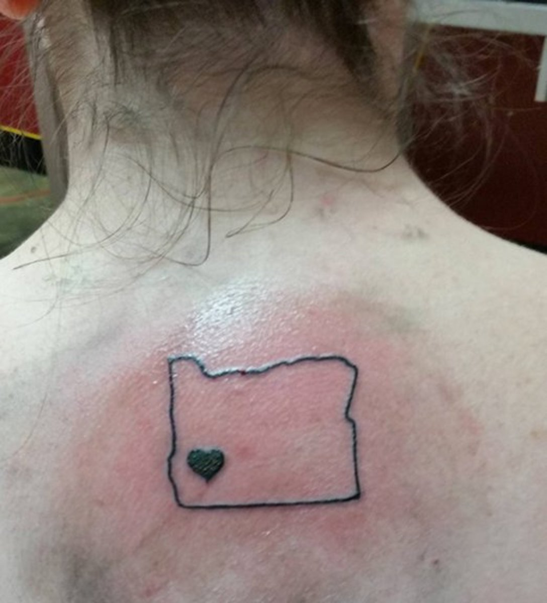 """Campbell's """"Roseburg Strong"""" tattoo."""