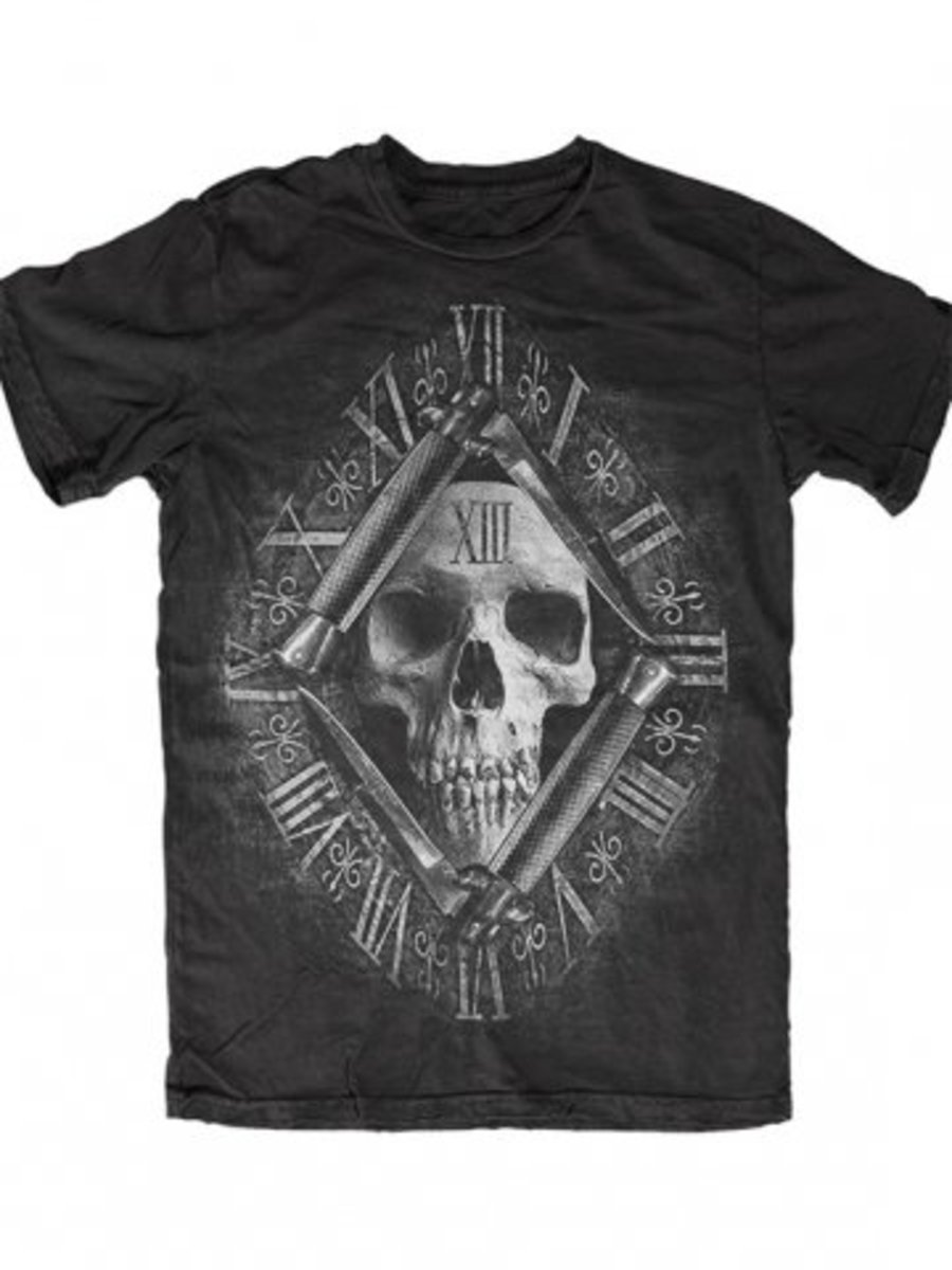 """Available at INKEDSHOP.COM: Men's """"13th Hour"""" Tee by Skygraphx"""