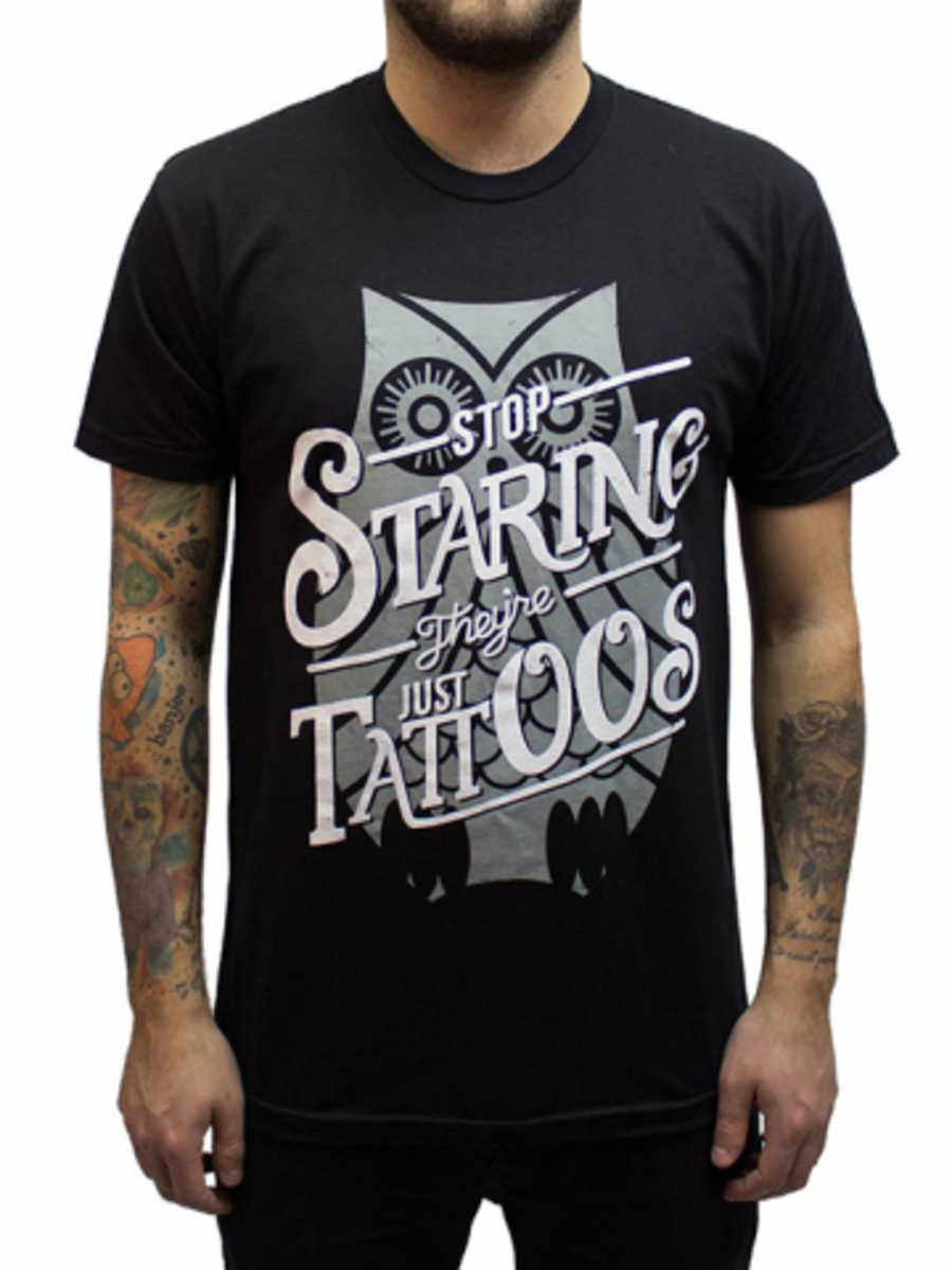 """Available at INKEDSHOP.COM: Men's """"Stop Staring II"""" Tee by InkAddict"""