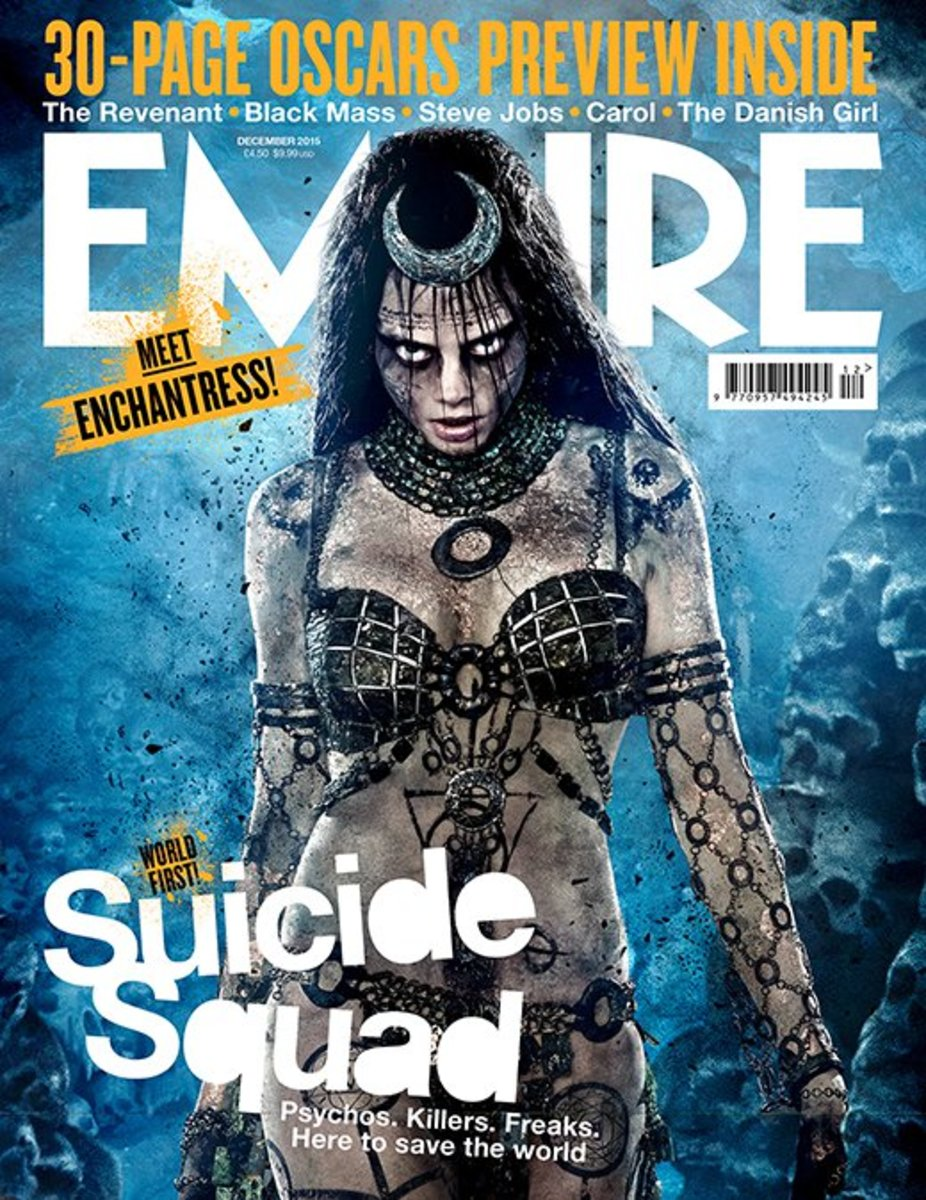 A recent set of covers of Empire gave fans a first look at a few characters, including a tattooed version of Enchantress.
