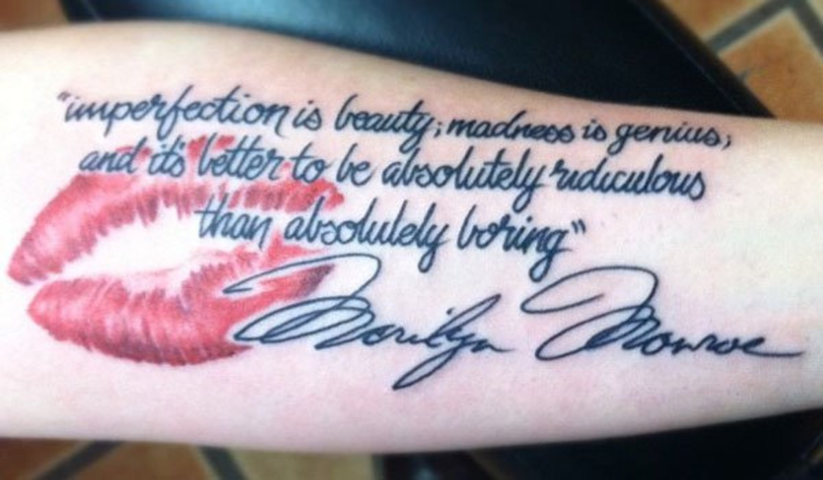Marilyn Monroe Imperfection Tattoo