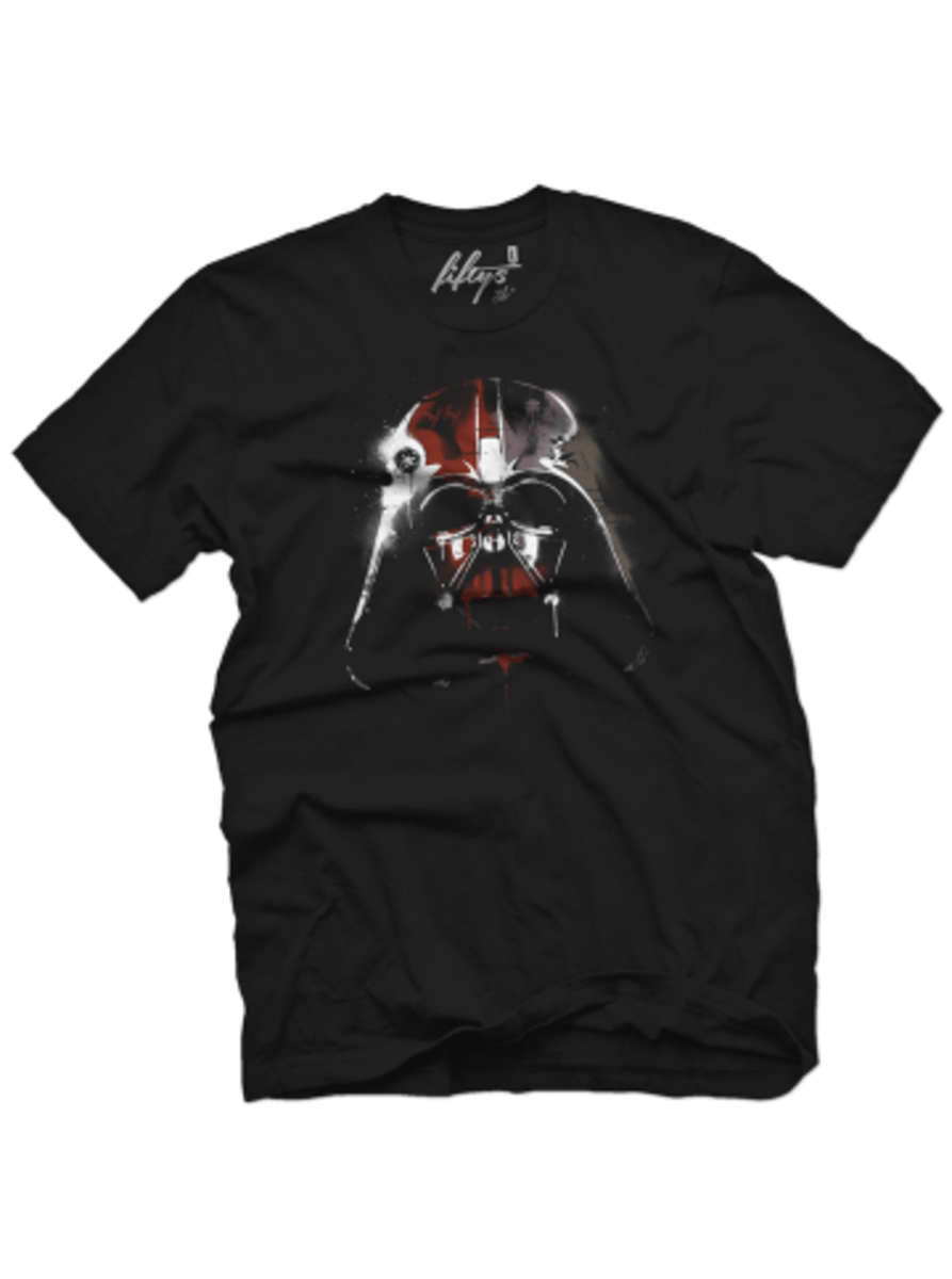 """Available at INKEDSHOP.COM: Men's """"The Dark Side Graffiti"""" Tee by Fifty5 Clothing"""