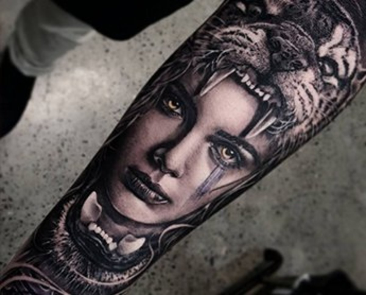 10 Pictures Of Black And Gray Tattoos Transformed With Pops