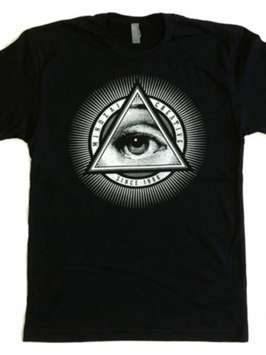 """Available at INKEDSHOP.COM: Men's """"Third Eye"""" Tee by Mindzai Creative"""