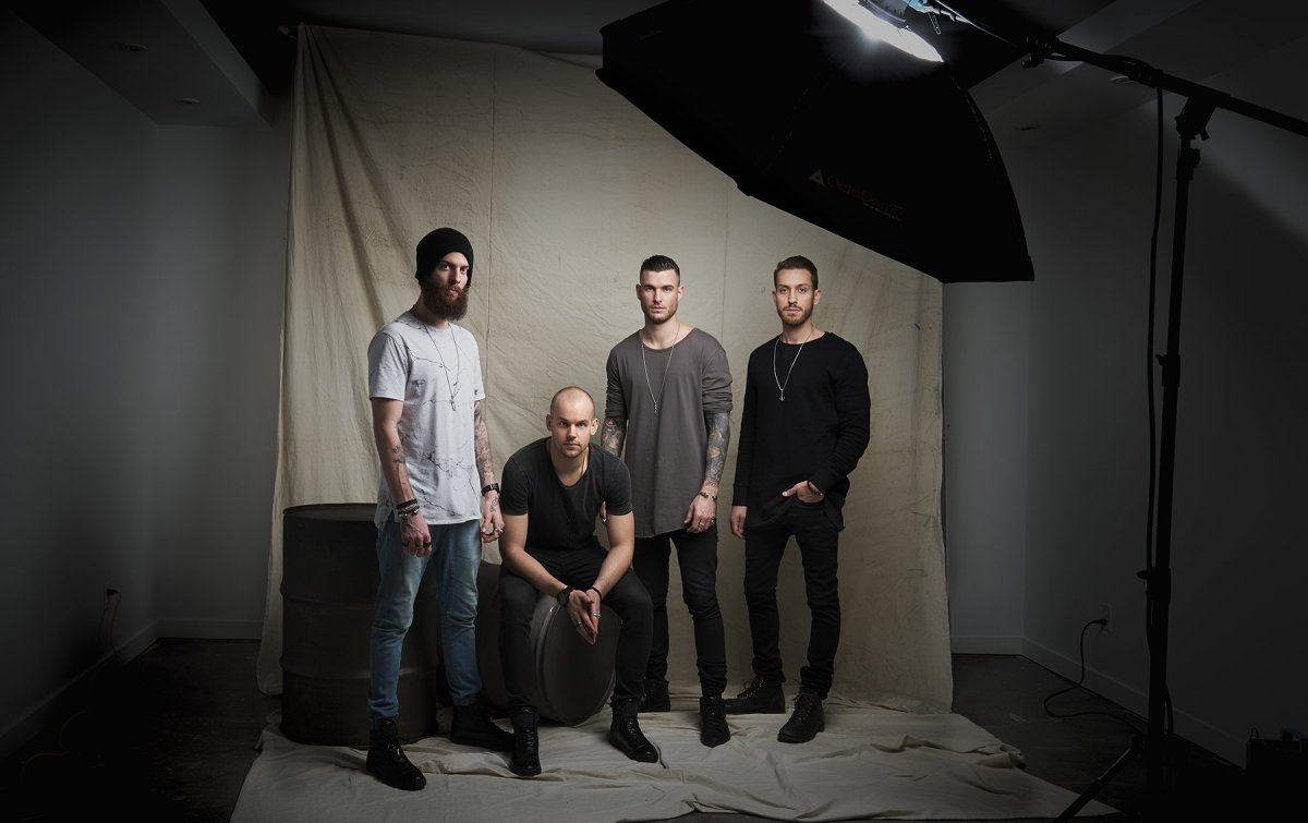 Pictured from left: Michael Andrews, North American Sales Manager; Jason Readman, Managing Partner; Shane Vitaly Foran, Founder/Designer; Zack Vitiello, Creative Director/Photographer.