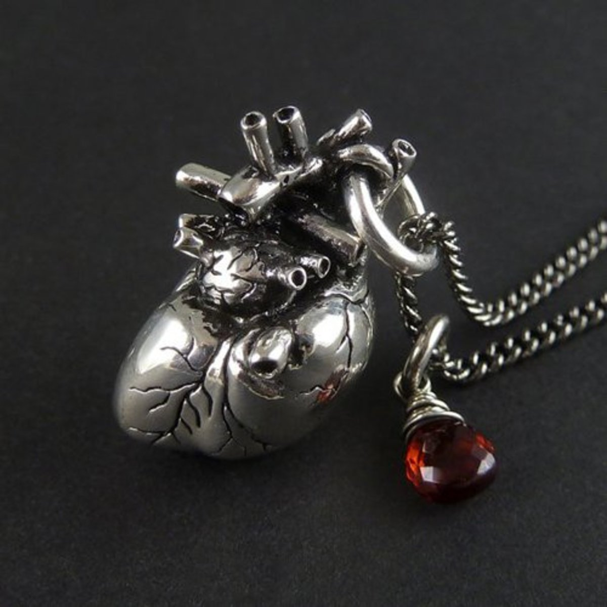 3-Anatomical-Heart-Necklace-with-Sterling-Silver-Wire-Wrapped-Garnet-by-Lost-Apostle