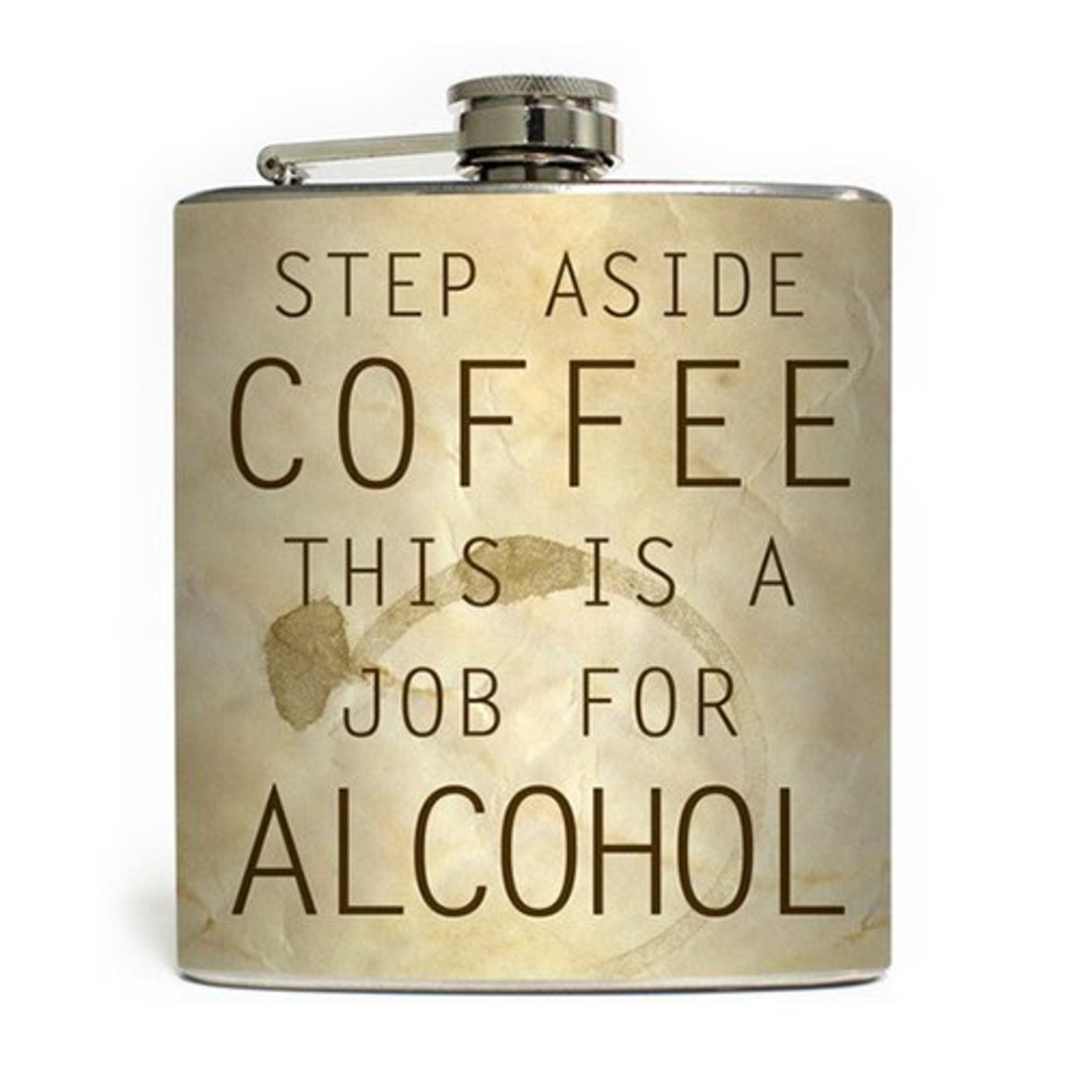 """Available now at INKEDSHOP.COM: """"Job for Alcohol"""" Flask"""