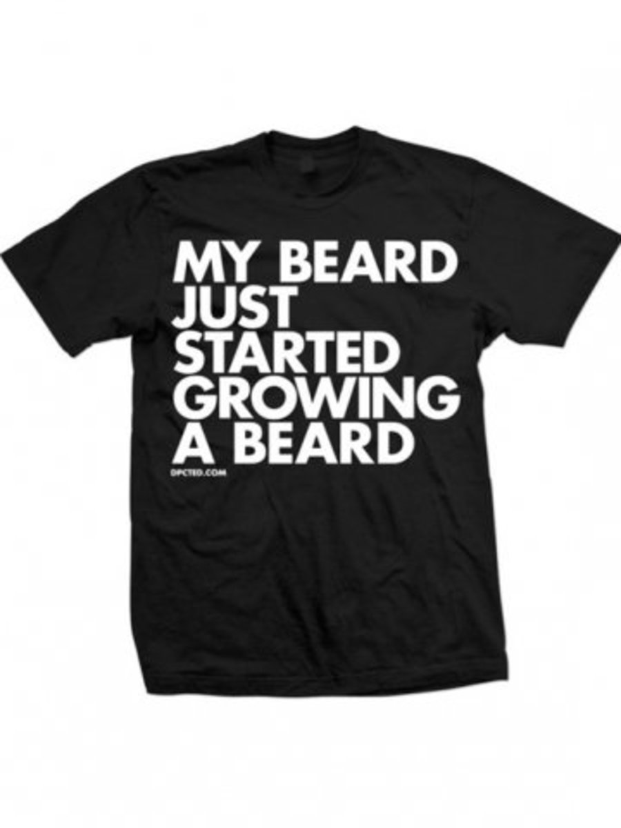 """Available at INKEDSHOP.COM: Men's """"My Beard Just Started Growing a Beard"""" Tee by Dpcted Apparel"""