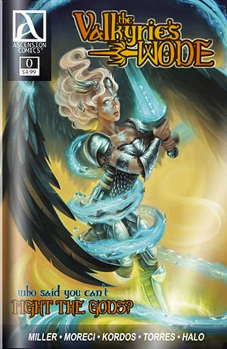 Issue 0 of The Valkyrie's Wode with cover art by Alix Branwyn.