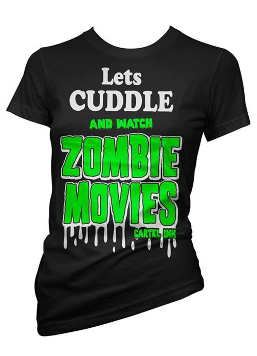 """Available at INKEDSHOP.COM: """"Zombie Movies"""" Tee by Cartel Ink"""