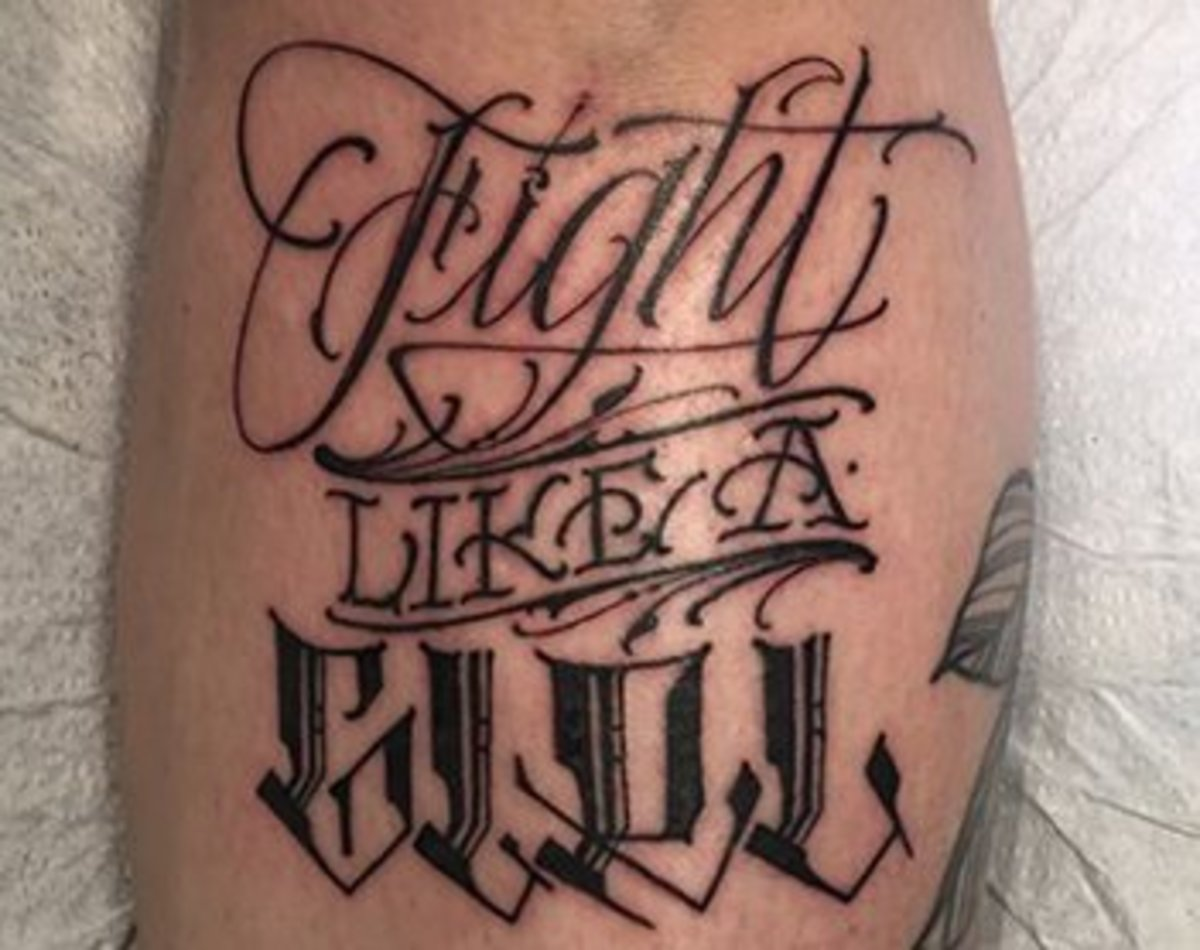30 ink-redible lettering tattoos