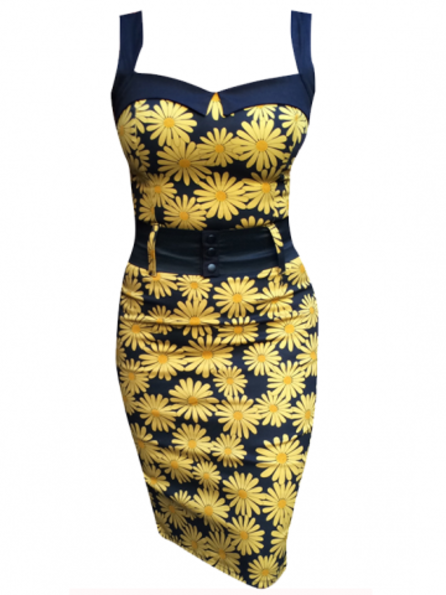 """Available at INKEDSHOP.COM: Women's """"Daisy Darling"""" Dress by Switchblade Stiletto"""