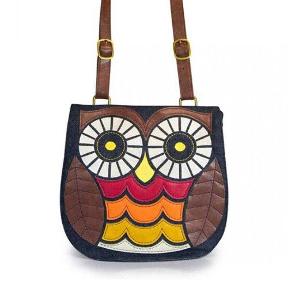 Available at INKEDSHOP.COM: Denim Owl Crossbody Bag by Loungefly