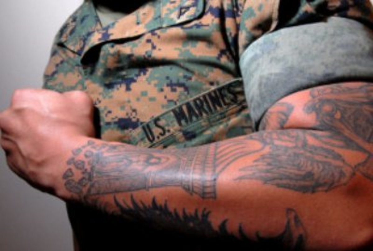 Army to Ban Visible Tattoos