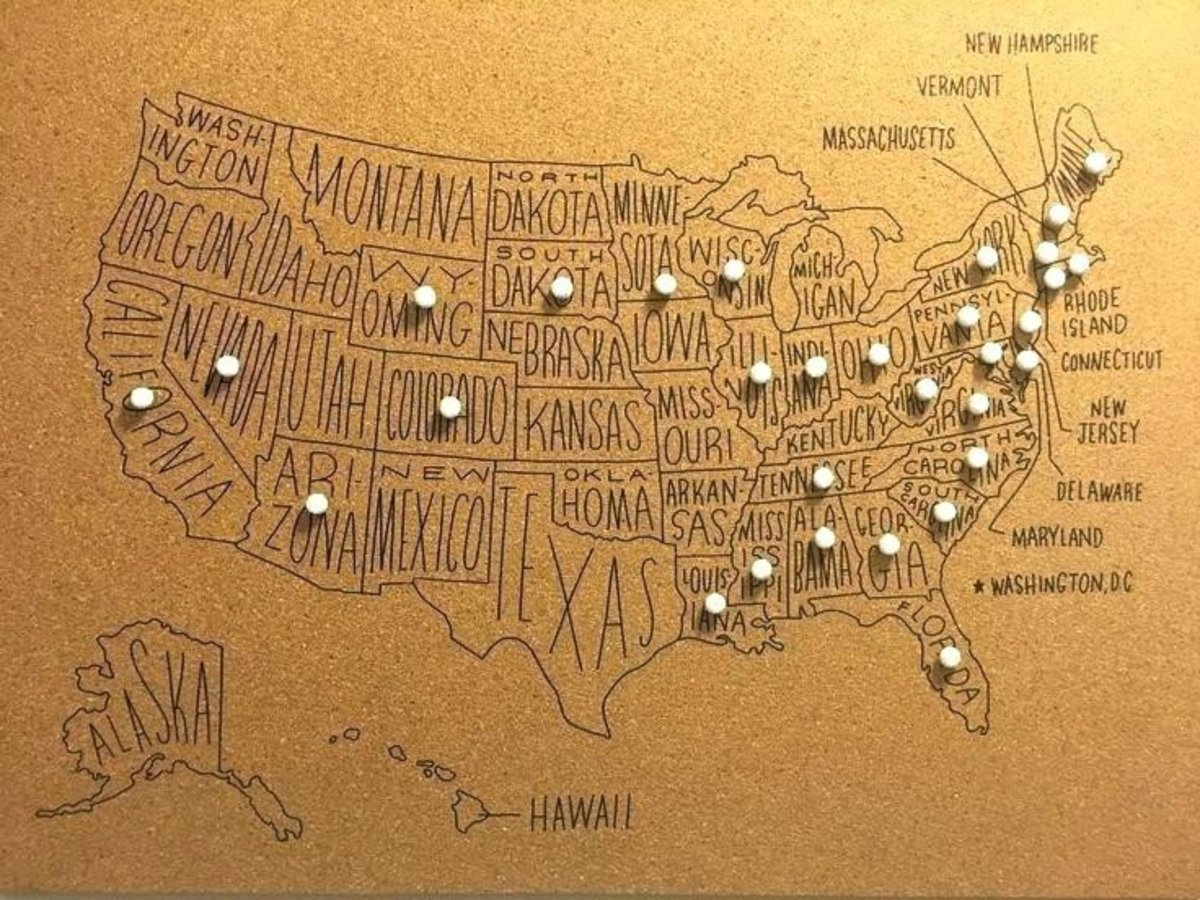 push pin us map Push Pin Us Map Super Fun Way To Document Your Travels A Cork Board