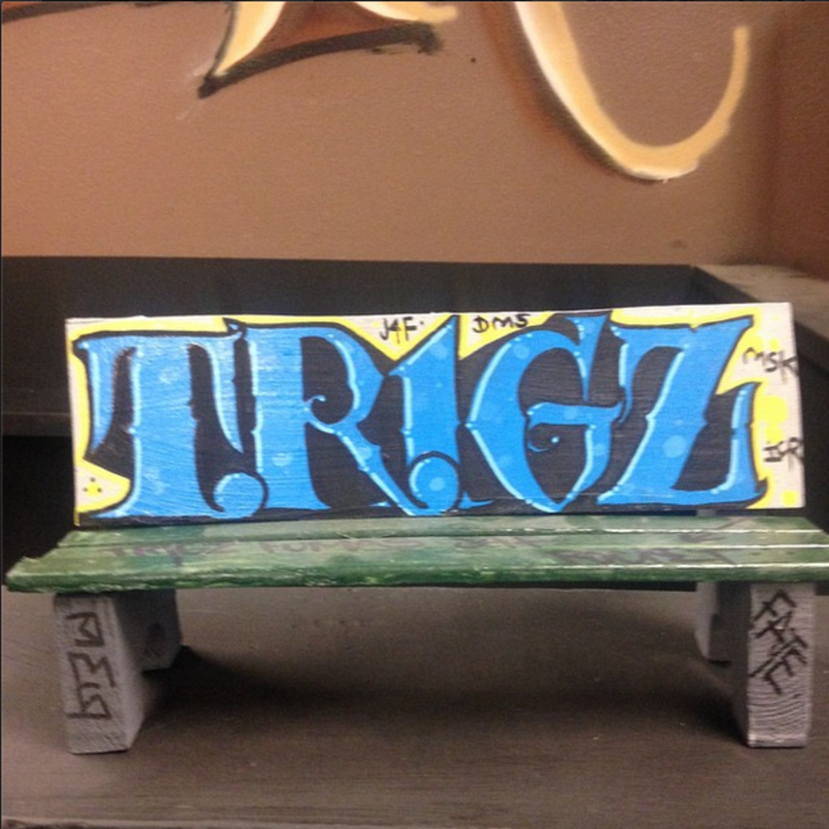 One of the many graffiti pieces Trigz painted.